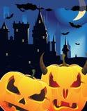 Halloween pumpkin head monsters Royalty Free Stock Image