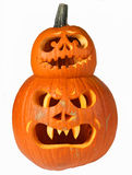 Halloween pumpkin heads Royalty Free Stock Photos