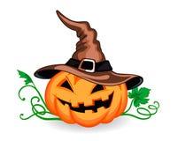 Halloween pumpkin in heat Royalty Free Stock Photography