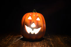 Halloween pumpkin. Helloween pumpkin halloween bright eyes nose and mouth Royalty Free Stock Photography