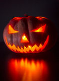 Helloween pumpkin-horror Royalty Free Stock Image