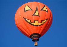 Halloween Pumpkin Hot Air Balloon Royalty Free Stock Photography