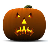 Halloween pumpkin icon 3d Stock Images