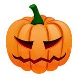 Halloween pumpkin icon, cartoon style vector illustration