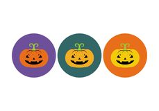 Halloween pumkin. Vector illustration. Halloween pumpkin icon or logo in modern line style. Vector illustration royalty free illustration