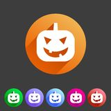 Halloween pumpkin icon Royalty Free Stock Photos