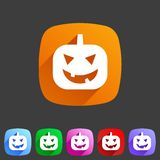 Halloween pumpkin icon Royalty Free Stock Photos