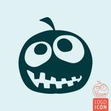 Halloween pumpkin icon Royalty Free Stock Image