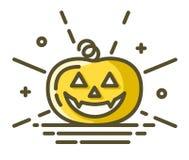 Halloween pumpkin icon stock illustration