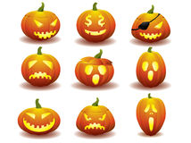 Halloween pumpkin icons Royalty Free Stock Image