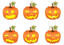 Halloween pumpkin icons Stock Photography