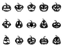 Halloween pumpkin icons set Royalty Free Stock Image