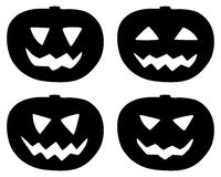 Halloween pumpkin icons set isolated on white stock images