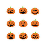 Halloween pumpkin icons Stock Image