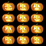 Halloween Pumpkin icons Royalty Free Stock Photo