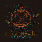 Halloween Pumpkin illustrations Royalty Free Stock Images