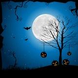 Halloween Pumpkin In Graveyard Royalty Free Stock Photography