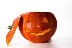 Halloween Pumpkin, inside lit by light, creepy loo Stock Photography
