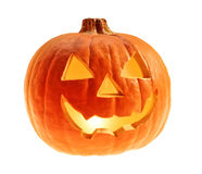 Halloween pumpkin isolated background Royalty Free Stock Image