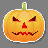 Halloween pumpkin isolated on grey background. Royalty Free Stock Photo