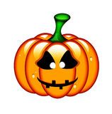 Halloween pumpkin isolated over white Royalty Free Stock Photography