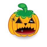 Halloween pumpkin isolated on a white background Stock Image