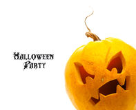 Halloween pumpkin isolated on white background Stock Photo