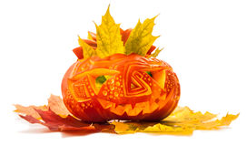 Halloween pumpkin isolated on white Stock Photo