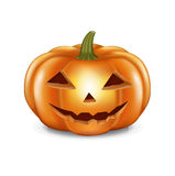 Halloween pumpkin isolated on white Royalty Free Stock Photography
