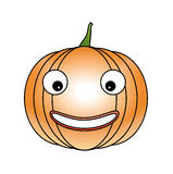 Halloween pumpkin. Isolated on a white background Stock Photos