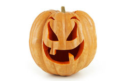 Halloween Pumpkin isolated on white background. royalty free stock photography