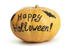 Halloween Pumpkin isolated on white background. Stock Photo