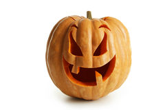 Halloween Pumpkin isolated on white background. stock photography