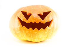Halloween pumpkin isolated. White background Stock Photography