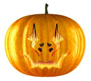 Halloween pumpkin with fire from eyes royalty free illustration