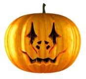 Halloween pumpkin isolated on a white. stock illustration