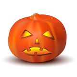 Halloween Pumpkin isolated on white background Stock Photos