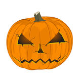 Halloween Pumpkin isolated on white Background Royalty Free Stock Image