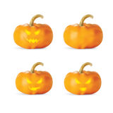Halloween Pumpkin isolated on white background. Vector illustration Stock Photography