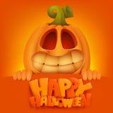 Halloween Pumpkin Jack Lantern invitation card. Vector illustration Stock Photo