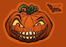 Halloween pumpkin, jack-o-lantern Stock Image