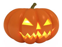 Halloween Pumpkin, Jack O Lantern, clipping path Stock Photo