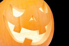 Halloween pumpkin, Jack O'Lantern close up Stock Photos