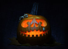 Halloween pumpkin jack-o-lantern Stock Photography