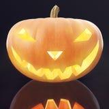Halloween Pumpkin Jack O Lantern with glow face. 3d rendering Stock Image