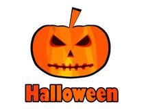 Halloween pumpkin, jack-o-Lantern. Halloween patch badge. Stock Photography