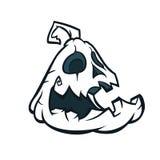 Halloween Pumpkin Jack-o`-lantern Minimal Color Flat Line Stroke cartoon Vector Illustration. Stock Image