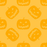 Halloween Pumpkin Jack O' Lantern seamless pattern Stock Photo