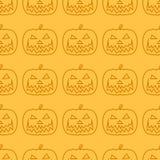 Halloween Pumpkin Jack O' Lantern seamless pattern Royalty Free Stock Images