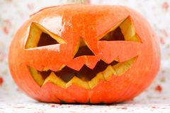 Halloween pumpkin Jack O'Lantern. Stock Photos